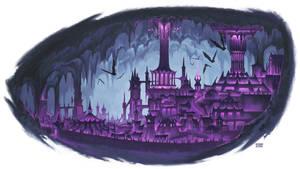 Dark elf city by BryanSyme