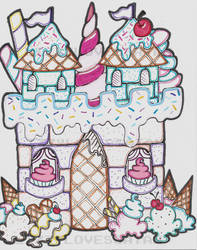 The First Candy Castle by LizzyLovesSatan
