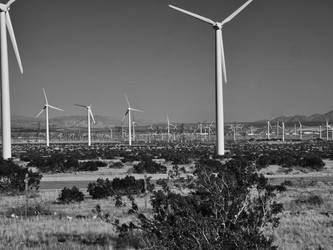 What Would Ansel Adams Think About Wind Turbines by sakaphotogrfx
