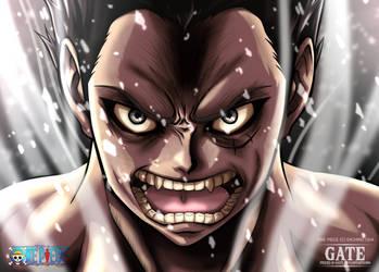 One Piece Fan art - Luffy Gear 4 (Snake Man) by Pisces-D-Gate