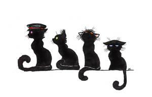 ROMANTICALLY APOCALYPTIC cats fanart by Koranona