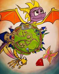 Spyro The Dragon - The adventure Begins by CrazyWackyBonkerz
