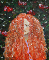 Acrylics Practice - Mane Of Flame - WIP by Forestina-Fotos