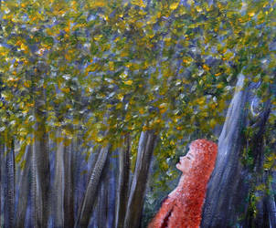 Acrylics Practice - Forest solitude by Forestina-Fotos