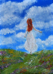 Touch The Clouds - 5 x 7 inch mini canvas by Forestina-Fotos