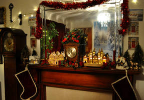 Festive Mantlepiece by Forestina-Fotos