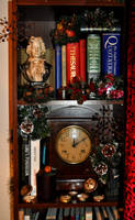 Festive Bookcase by Forestina-Fotos