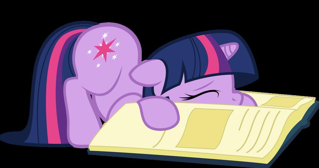 Sleepy bookworm by LazyPixel