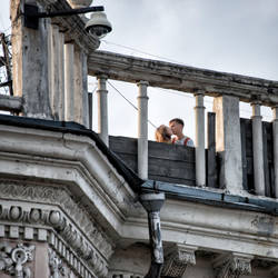 kiss on the roof by Igor-Demidov