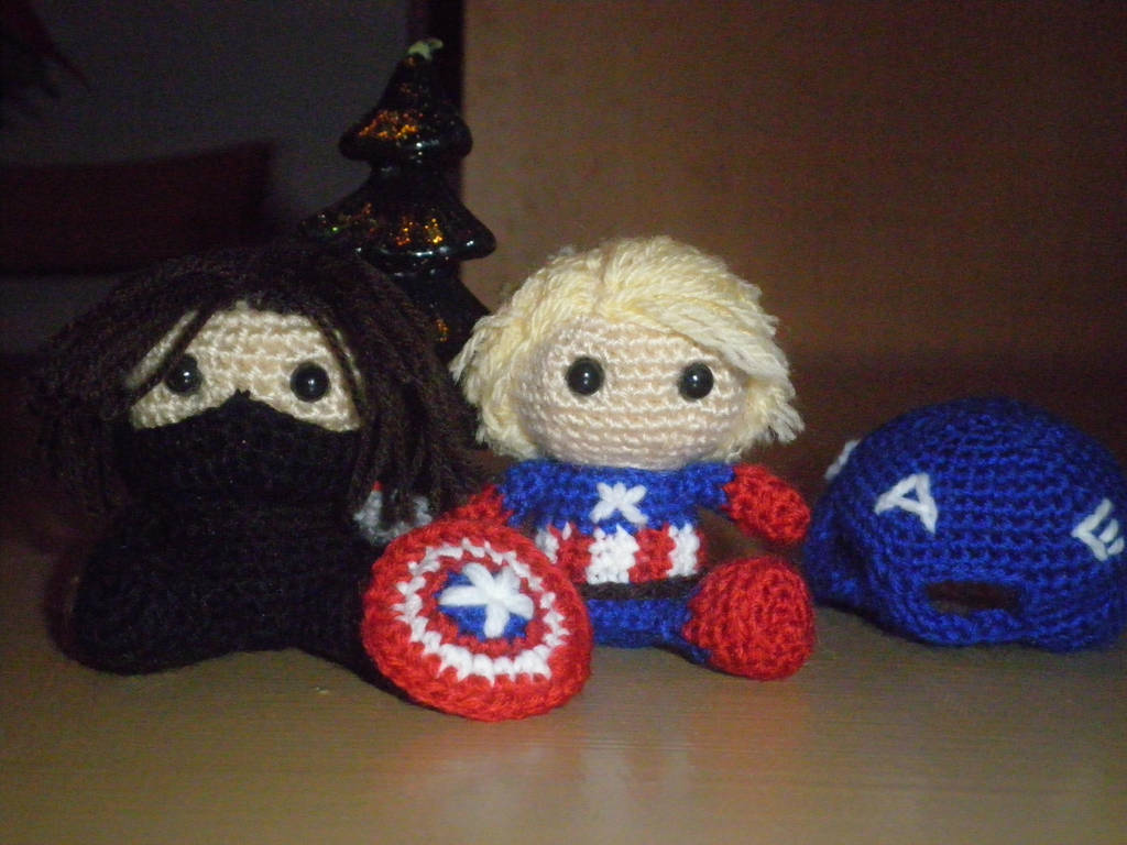 Captain America And The Winter Soldier Amigurumi By