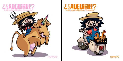 Agrocuir illustrations by yupiyeyo
