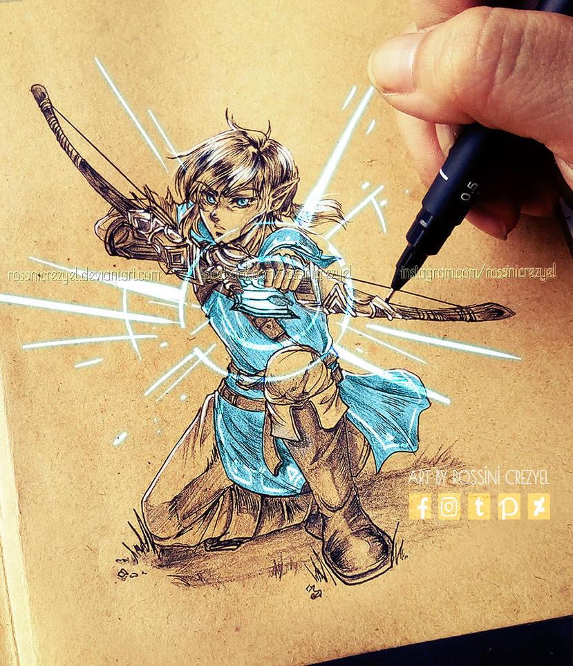Linktober Day 1 - Weapon by RossiniCrezyel