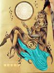 Linktober Day 2 - Species/Race - Twili Midna by RossiniCrezyel