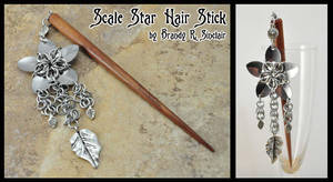 Scale Star Hair Stick by crazed-fangirl
