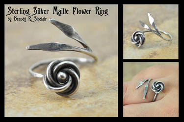 Maille Flower Ring by crazed-fangirl