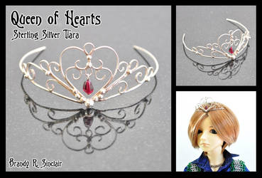 Queen of Hearts - BJD Tiara by crazed-fangirl