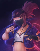 K/DA Akali by Sasplayer