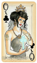 Queen of Clubs by suzewad