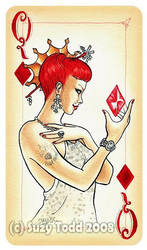 Queen of Diamonds by suzewad