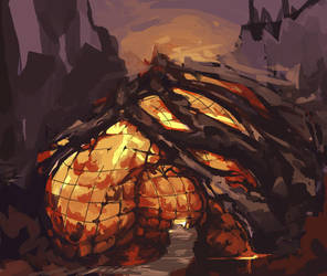 Magma Fortress by scriptKittie