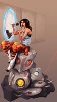 Portal: Clever Girl by scriptKittie