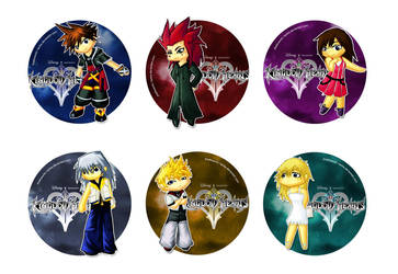Kingdom Hearts stamps by Lantra