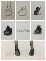 Tutorial about japanese girl school shoes by KiranKira