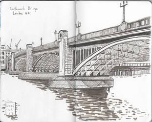 Southwark Bridge by garyjwood