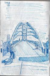 Humber River Footbridge by garyjwood