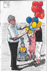 The Balloon Seller by garyjwood