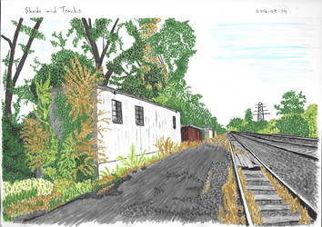 Sheds And Tracks by garyjwood