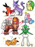 A page of Pokemon! by rose-star