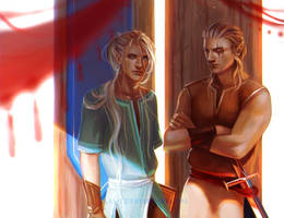 Enoch and Alaric by LAS-T
