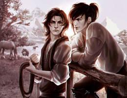 Caleb and Sentaro by LAS-T