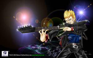 Billy Idol Anime Fan Art (2002) by GraphicAnime