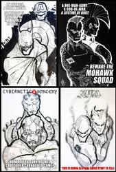 Marvel vs DC Sketches a AFA 2011 by toysrevil