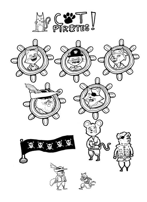 Cat Pirates by dawgmastas