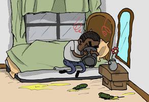 Johnny GoGos Vomit in a Bucket by dawgmastas