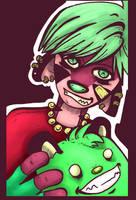 Angela and Gleeko colors by dawgmastas
