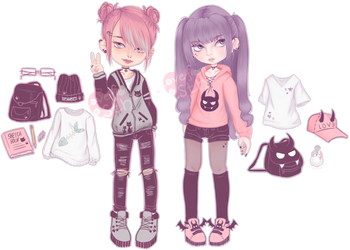 [OPEN - Set Price] Punky Cute Adopts by LoveFromEsth