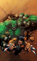 Wolvie vs.Hulk-Marvel Sample 4 by SplashColors