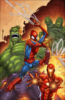 Spiderman Hulk IronMan-Colored by SplashColors