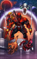 Deadpool Corps by Shelby color by SplashColors