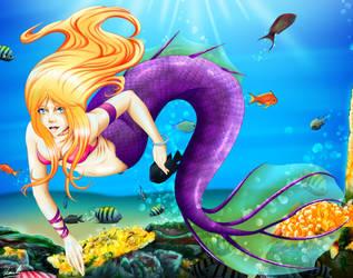 nikkidoodlesx3 mermaid by kimikow1