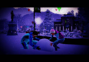 Building a Snowman - The Sims 3 Seasons by ZsoltyN
