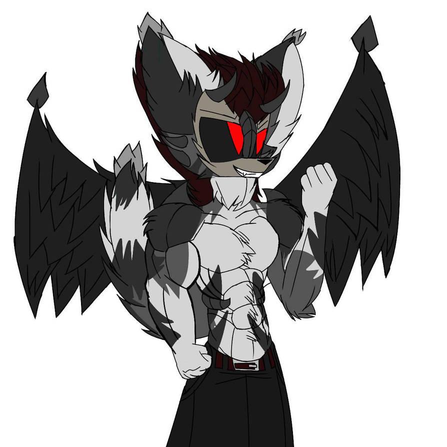 my oc dark wolf by jkthegamer