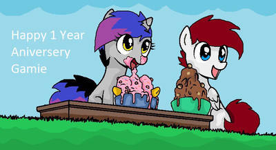 Me And My Boyfriends One Year Anniversary By Pixelponie On Deviantart