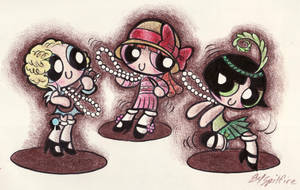 Powerpuff Flappers by blackhellcat
