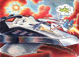 Starscream's Chin Runway by blackhellcat