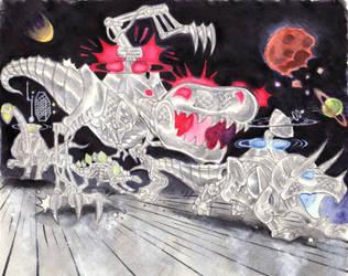 Metal Dinosaurs by blackhellcat